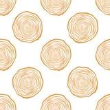 Drzewnych pierścionków wektoru Bezszwowy wzór royalty ilustracja