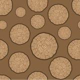 Drzewnych pierścionków wektoru Bezszwowy wzór Saw drzewnego bagażnika rżnięty tło również zwrócić corel ilustracji wektora royalty ilustracja