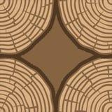 Drzewnych pierścionków wektoru Bezszwowy wzór Saw drzewnego bagażnika rżnięty tło również zwrócić corel ilustracji wektora Zdjęcie Stock
