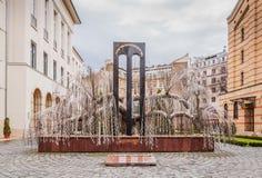 Drzewo życie zabytek ofiary holokaust otwierał w 1990 w Budapest, Węgry zdjęcia stock