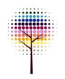 drzewo abstrakcjonistyczny wektor Zdjęcia Stock