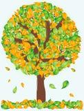 drzewo abstrakcjonistyczny wektor Obrazy Royalty Free