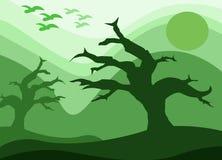 Drzewo bez liści ilustracja wektor