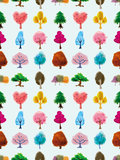 Drzewo bezszwowy wzór Obraz Royalty Free