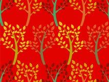Drzewo bezszwowy wzór Ilustracja Wektor