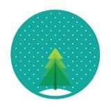 drzewo bożego narodzenia wesoło Zdjęcie Stock