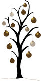 drzewo bożego narodzenia złota Fotografia Stock