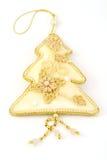 drzewo bożego narodzenia złota Obrazy Royalty Free