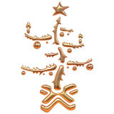 drzewo bożego narodzenia złoty Obraz Stock