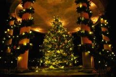 drzewo bożego narodzenia złoty Zdjęcia Royalty Free