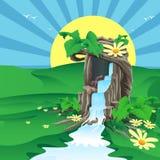 Drzewo był źródłem woda Fotografia Stock
