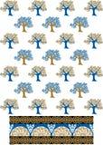 Drzewo deseniowy wizerunek Obraz Royalty Free