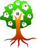 Drzewo dom ilustracja wektor