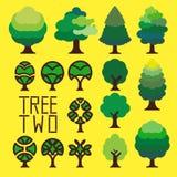 Drzewo Dwa Zdjęcia Royalty Free