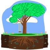 Drzewo huśtawka royalty ilustracja