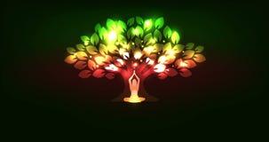 Drzewo i kobieta royalty ilustracja