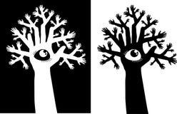 Drzewo i oko Fotografia Royalty Free