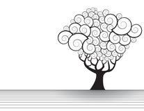 drzewo ilustracyjny royalty ilustracja