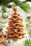 Drzewo imbirowi ciastka Zdjęcia Royalty Free
