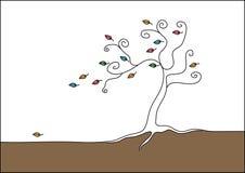 drzewo konturowy wektor Zdjęcie Royalty Free