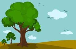 Drzewo krajobraz Obrazy Stock