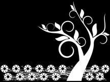 drzewo kwiecisty tła ilustracja wektor