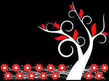 drzewo kwiecisty tła royalty ilustracja