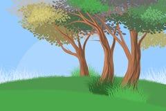 Drzewo lasu scena Obraz Stock