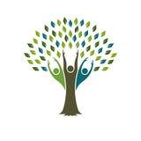 Drzewo Ludzcy ludzie logów Fotografia Royalty Free