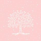 Drzewo na delikatnym tle Obrazy Stock