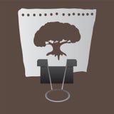 Drzewo na papierze Fotografia Stock