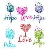Drzewo nadziei, wiary i miłości logo, również zwrócić corel ilustracji wektora royalty ilustracja