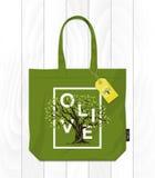 Drzewo oliwne loga nowożytny pojęcie odizolowywający Zdjęcia Stock