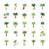 Drzewo płaskie ikony ustawiać Fotografia Stock