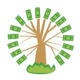 drzewo pieniądze Obrazy Royalty Free