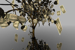 drzewo pieniądze royalty ilustracja