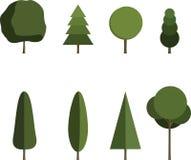 Drzewo set Zdjęcia Stock