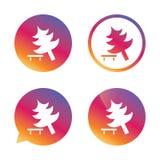 Drzewo szyldowa ikona Psuł się drzewnego symbol Fotografia Stock