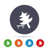 Drzewo szyldowa ikona Psuł się drzewnego symbol Obraz Stock