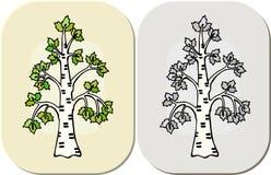 Drzewo w graficznym kresk?wka stylu royalty ilustracja