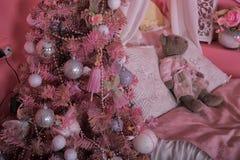 Drzewo w pepinierze przy bożymi narodzeniami Fotografia Royalty Free