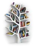 Drzewo wiedza Półka na książki na białym tle royalty ilustracja