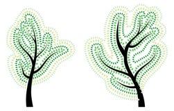 Drzewo z abstrakt zieleni liśćmi Obraz Royalty Free