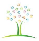 Drzewo z liść swirly ilustracji