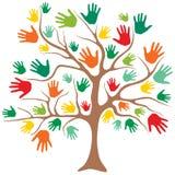 Drzewo z rękami zamiast liści Zdjęcia Stock