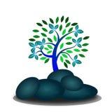 Drzewo z skałą Obrazy Stock