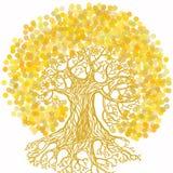 Drzewo z ziemską ilustracją w ekologii pojęcia temacie Save plan ilustracja wektor