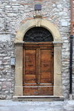 drzwi średniowieczny frontowy Zdjęcia Stock