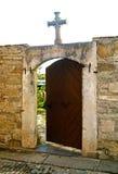 Drzwi świątynny otwiera wszystko Obrazy Royalty Free