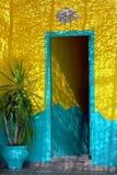 drzwi arabskiej Morocco styl Obrazy Royalty Free